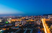 View of Almaty city in Kazakhstan — Stock Photo