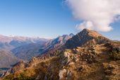 Beautiful Western Caucasus mountains in autumn   — Stock Photo