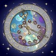 Watch with astrological signs, vector — Stock Vector #53473575