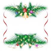 Christmas card as a frame, vector. — Stock Vector
