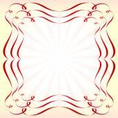 Retro rámeček s mašlí, vektorové ilustrace. — Stock vektor