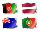 Flags of the world, vector illustration — Stock Vector