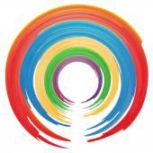 水彩界、 彩虹、 矢量图 — 图库矢量图片
