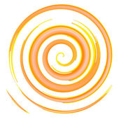 Orange watercolor spiral, elements for design, vector illustration — Wektor stockowy