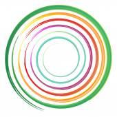 Watercolor circles , rainbow, vector illustration — Stock Vector
