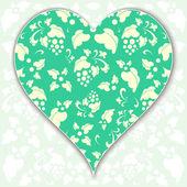 Ilustración de corazón, San Valentín, vector — Vector de stock