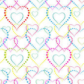 Seamless background of hearts — Stock Vector