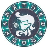 Virgo zodiac sign , vector illustration — Stock Vector