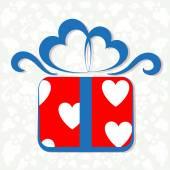 Yürekleri hediye kutusu — Stok Vektör