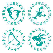 Signs of the zodiac — Stock Vector