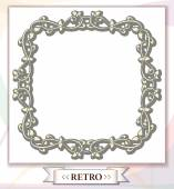 Frame with retro ornament — Stock Vector