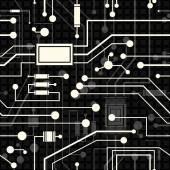 Electronic circuit, seamless background — Stockvektor