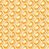 Honung honeycomb蜂蜜蜂窝 — Stockvektor