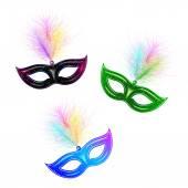 Venetian carnival mask — Stock Vector