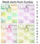 Calendar 2016 — Stock Vector