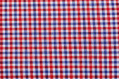 Close up on checkered tablecloth fabric. — Stock Photo