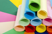 Roles of color paper. — Stock Photo