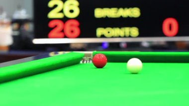 Snooker ball in match — Video Stock