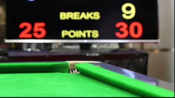 Snooker ball in macht — Vídeo de stock