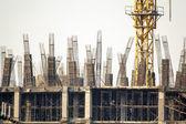 Rebar column in construction site — Stock Photo