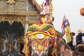 Songkran festival ,Sukhuthai Thailand. — Stock Photo