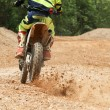 Motocross racer accelerating speed in track — Stock Photo #72105589