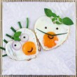 Love shaped two fried eggs — Stock Photo #51839829