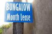 Bungalow month lease information — Stock Photo