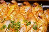 Red snapper prepared for BBQ — 图库照片