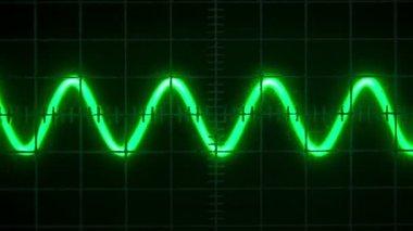 Old oscilloscope — Stock Video