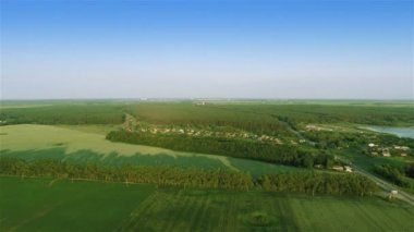Flying over fields — Stock Video