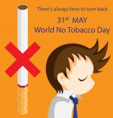 World No Tobacco Day — Stock Vector