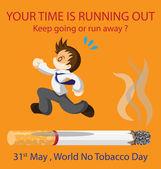 World No Tobacco Day — Stock Vector