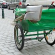 Typical green pushcart of municipal street cleaning service in Brussels — Stock Photo #55962803