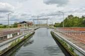 Hydraulic boat Lift Number 1 of Louviere in Houdeng-Goegnies in Belgium — Foto de Stock