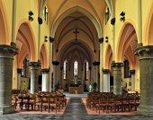 Interior of Saint-Gery Church. Belgium — Stockfoto