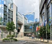 Modern building of European Parliament. — Stock Photo