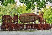 ブリュッセル, ベルギーのさびた金属組成 — ストック写真