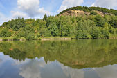 Panorama of Meuse valley in Champagne-Ardenne, France — Stock Photo