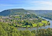Panorama of Revin city in France — Stock Photo