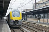 Brussels-South Railway Station or Gare du Midi — Foto de Stock