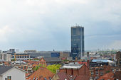 Panoramic view of Brussels from Place Poelaert. — Stock Photo