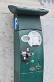 Parking payment terminal in Brussels, Belgium — 图库照片