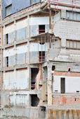 Demolishing a house — Stock Photo