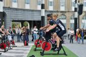 Training activities during Car Free Sunday in Brussels — Stock Photo