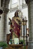 Statue of Jesus Collegiate Church Saint-Martin in Alost, Belgium — Stock Photo