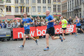Grand Place during Brussels Marathon and Half Marathon of Brussels — 图库照片
