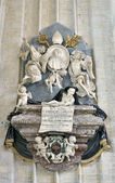 Memorial desk of Ambrosio Capello, bishop of Antwerp in Cathedral of Our Lady — Stock Photo