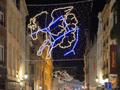 Christmas illumination in Brussels,Belgium — Stock Photo