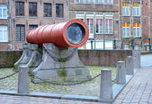 Cannon which never fired Dulle Griet or Mad Meg in Ghent, Belgium — Stock Photo